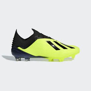 4906d42a0 Adidas Men's X 18.1 FG Soccer Cleats (Solar Yellow/Black) DB2251* | eBay
