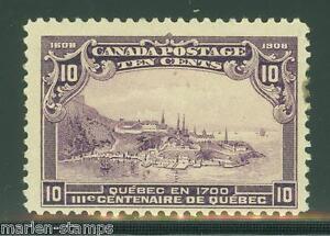 CANADA SCOTT#101 FINE MINT LIGHT HINGED FULL ORIGINAL GUM