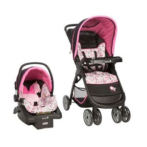 Details About Disney Baby Car Seat Stroller Minnie Mouse Pattern Travel System Garden Delight