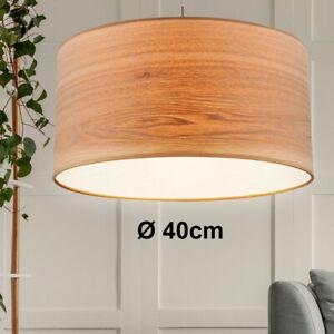 Lampe De Plafond Suspendue Tissu Abat Jour Bois Optique Pendentif