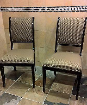 Kindel Furniture Black Gold Regency Sleigh Back Side Chair Green