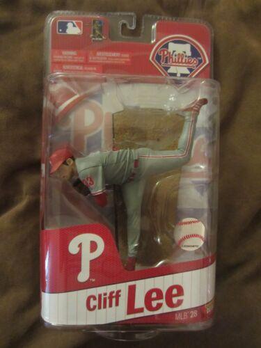 Plein Cas De 8 chiffres Gris Away unif. MLB 28 Cliff Lee Figurine McFarlane