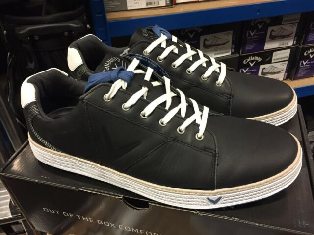 Callaway Del Mar Retro Golf Shoes Navy Uk 11 Leather Uppers Pga Seller For Sale Ebay