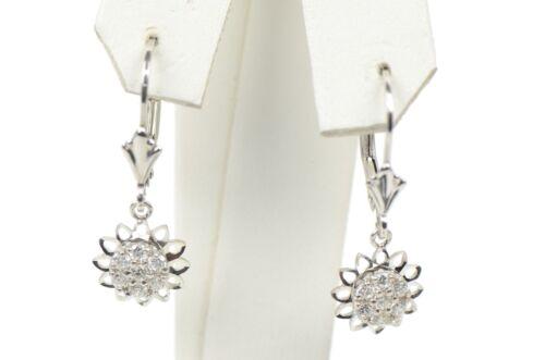 silver dangle earrings sterling sunflower 925 women flower drop