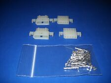 5 Pin Molex Connector Kit 2 Sets With18 24 Awg 062 Pins Panel Mount 0062
