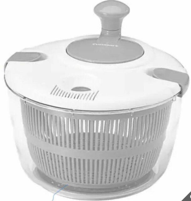 Cuisinart Salad Spinner 4.7l Vegetable Lettuce Washer Dryer Serving Bowl White for sale online   eBay