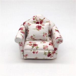 1:12 Dollhouse Miniature Furniture Vintage Sofa Armchair Couch Decor Toy Sanwood