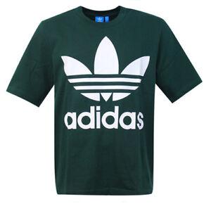 221628f7 Adidas Originals Forest Green AC Boxy Short Sleeve Mens Tee T-Shirt ...