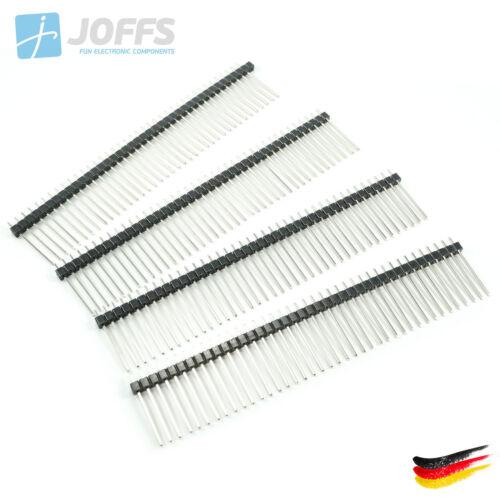 2.54mm Single Row Header Strip 10 x 40 Pin Stiftleiste 21mm einreihig SCHWARZ