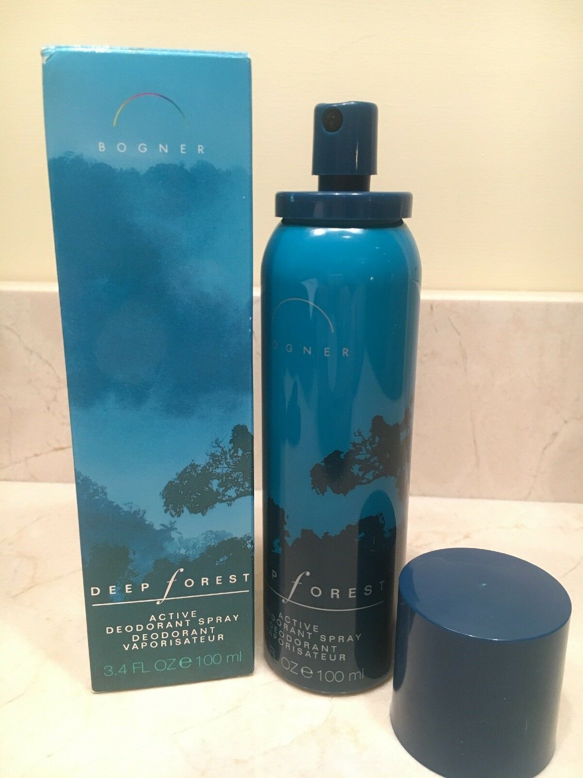 no sale tax clearance prices details for Bogner Deep Forest Active Deodorant Spray for Men 3.4 fl oz NIB