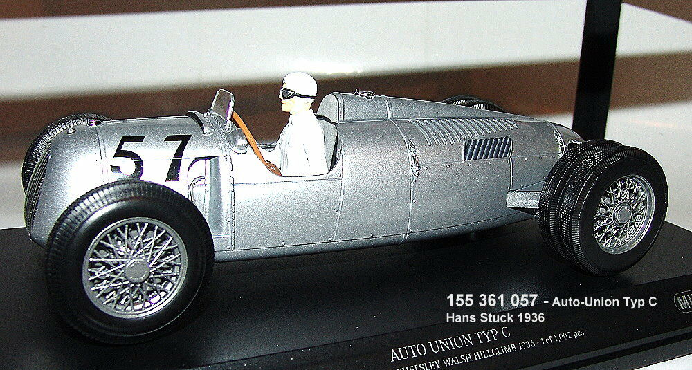 MINICHAMPS 155361057- AUTO UNION TYPE C - gangant Shelsley Walsh COURSE DE CÔTE