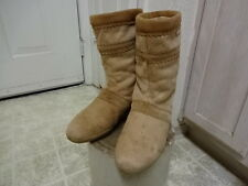 GREAT COND NOT MUCH USED  VINTAGE TECNICA GOAT FUR BOOTS 39 MADE IN ITALY YETI