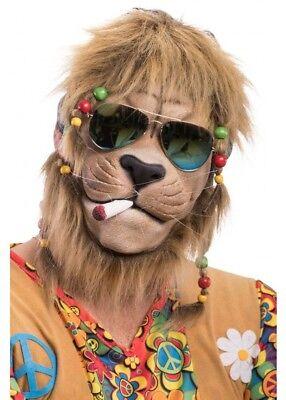 Rasta Lion Latex Mask Wig Fake Joint Dreadlocks Fancy Dress Halloween Costume