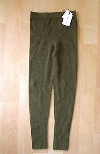 NWT-New-374-Isabel-Marant-alpaca-sweater-pants-olive-green-lounge-Sz-36