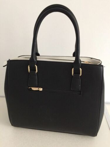 Leather Handbags White Black Ladies Quality SOCqR