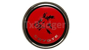 trunk badge mustang coyote rear deck decklid gas cap emblem - new