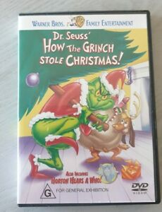 How-The-Grinch-Stole-Christmas-DVD-2001-Region-4-VGC-Free-Postage