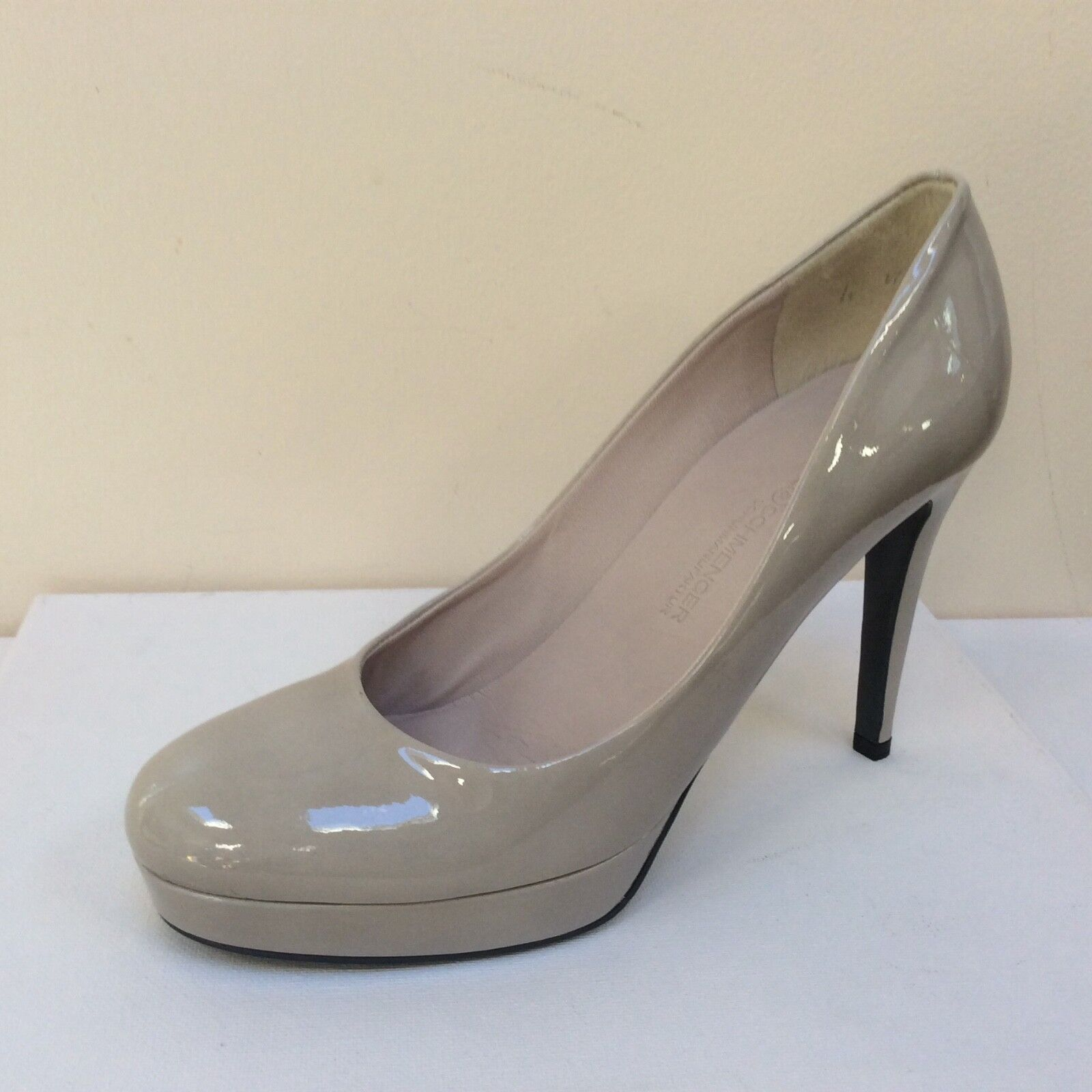 K&S Sheyla light Grau patent platform courts, UK 6.5/EU 39.5,   BNWB