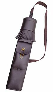 SYNTHETIC LEATHER BACK SIDE YOUTH QUIVER WITH ZIP POCKET ARCHERY PRODUCTS SAQ140
