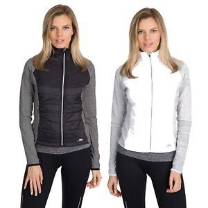 Trespass-Zorina-Womens-Active-Running-Jacket-Long-Sleeved-Black-White-Track-Top
