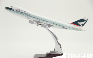 1 200 32CM CATHAY PACIFIC BOEING 747-400 Passenger Airplane Plane Resin Model