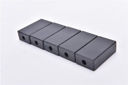 5pcs Electric Plastic Black Waterproof Case Project Junction Box 55x35x15 W  T