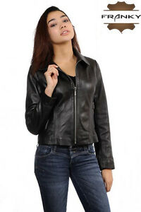 Hsy1 Lamb Leather Franky Jacket Motorcycle Skin Genuine 03 TqFf1w