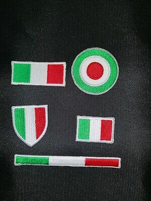 TOPPE PATCH RICAMATE TERMOADESIVE KIT ITALIA BANDIERA