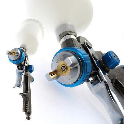 Scratch Doctor LVLP 1.4 Gravity Feed Spray Paint Gun More Efficient than HVLP