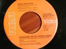 "JOHN DENVER 45 RPM ""Sunshine on my Shoulders"" & ""Around and Around"" VG+ cond"