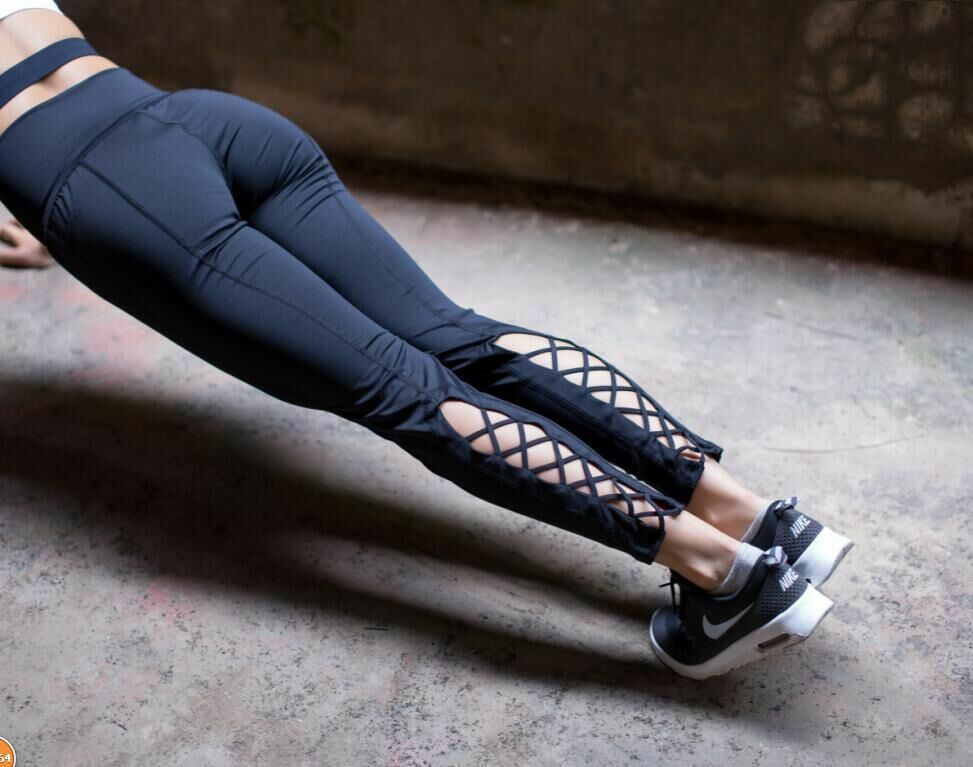 Women Sport Leggings Yoga Active Running Workout Fitness Pants Tie Slim Jogger