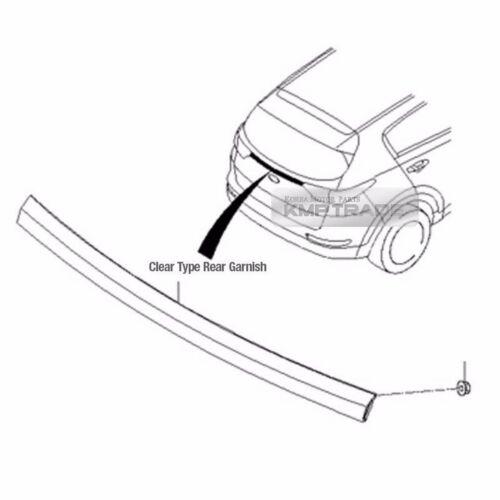 OEM Parts Rear Trunk Tailgate Garnish Clear Type For KIA 2017-2018 Sportage QL