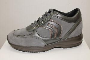 Sneakers-Geox-D-Happy-R-Suede-Leather-grigio-tipo-Hogan-Interactive
