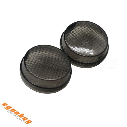 Turn Signals Indicator Lens Cover Smoke for Kawasaki Vulcan 1600 Honda Cruisers