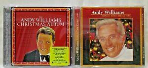 Lot of 2 Andy Williams Christmas CDs - Songs for Christmas & Christmas Album