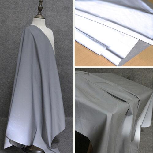 Bright Silver Reflective Fabric Safety Warning Down Jacket Raincoat Cloth 140cm