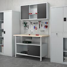 Werkstatteinrichtung Werkbank Werkzeugschrank Lochwand Hängeschrank Set