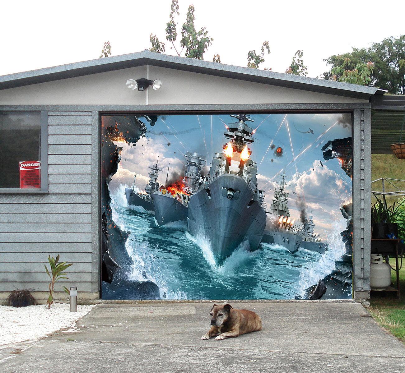 3D Warships 55 Garage Door Murals Wall Print Decal Wall Deco AJ WALLPAPER UK
