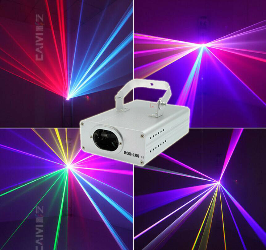 DMX 3D Effect 1050mW Red Green Blue Full color Laser Christmas Decor Lighting Yc