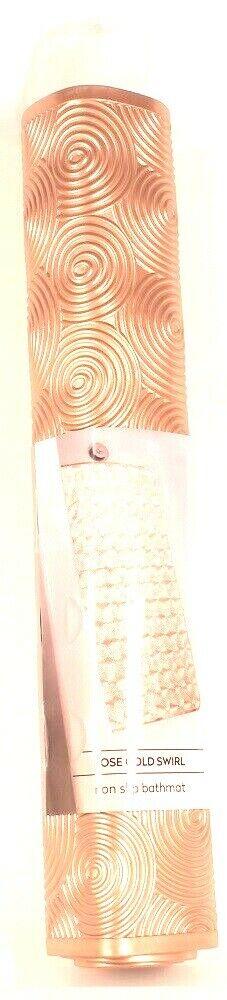 1 Count Richards Loft Rose Gold Swirl Non Slip Bathmat Suction Cup Security Wash