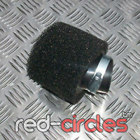 ANGLED BLACK 38mm PIT DIRT BIKE RACING DOUBLE FOAM AIR FILTER 50cc 110cc PITBIKE