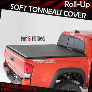 Toyota Tacoma Bed Cover >> Lock Roll Up Soft Tonneau Cover For 2005 2015 Toyota Tacoma 5 Ft