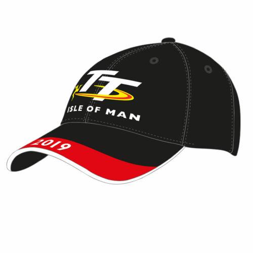 19ABC4 Official Isle of Man TT Races Black  Cap