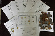 Play money plastic coins times table SEN Maths pack school home education
