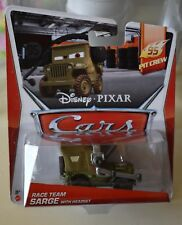RACE TEAM SARGE WITH HEADSET Disney Pixar Cars New Boxed