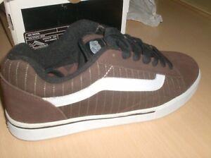 aa00cd595d6 vans skateboard shoes no skool brown -- 8 usa new in original box ...