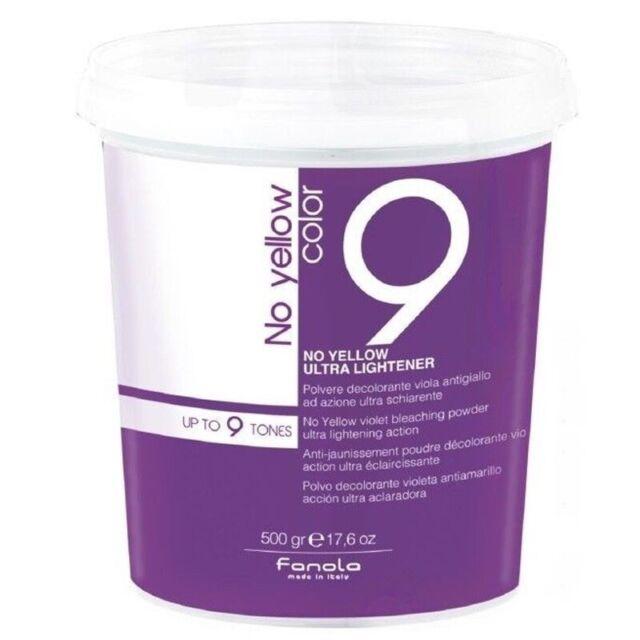 FANOLA Polvo Removedor de Tinte violet Anti-amarillo Ultra Abrillantador 9 Tonos