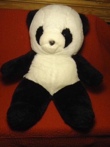 """Large vintage 20"""" Chosun PANDA BEAR plush stuffed animal made in Korea"""