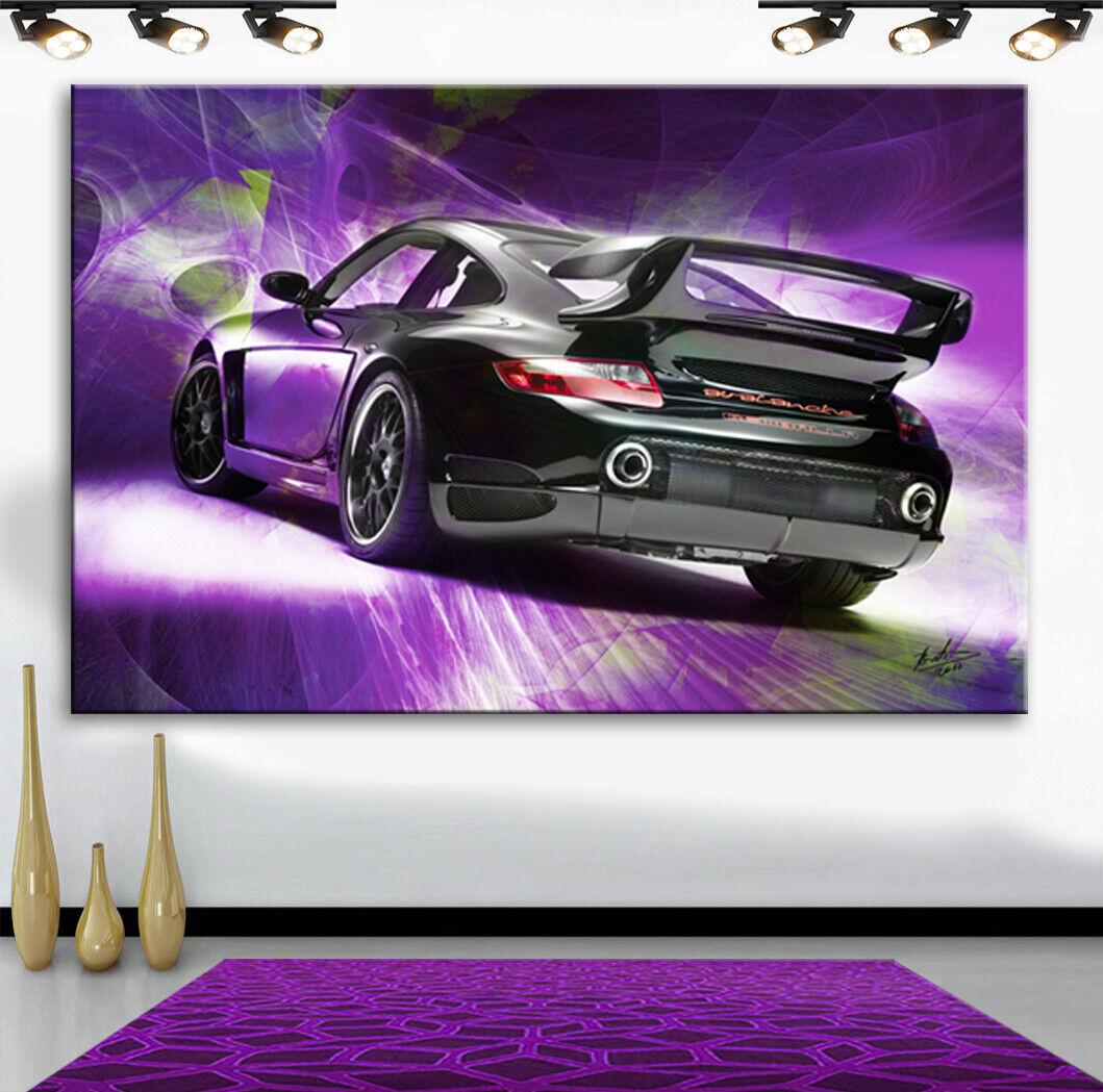 Porsche Gemballa Autos Sportwagen Wandbilder Bilder Leinwand Abstrakt XXXL 2759A