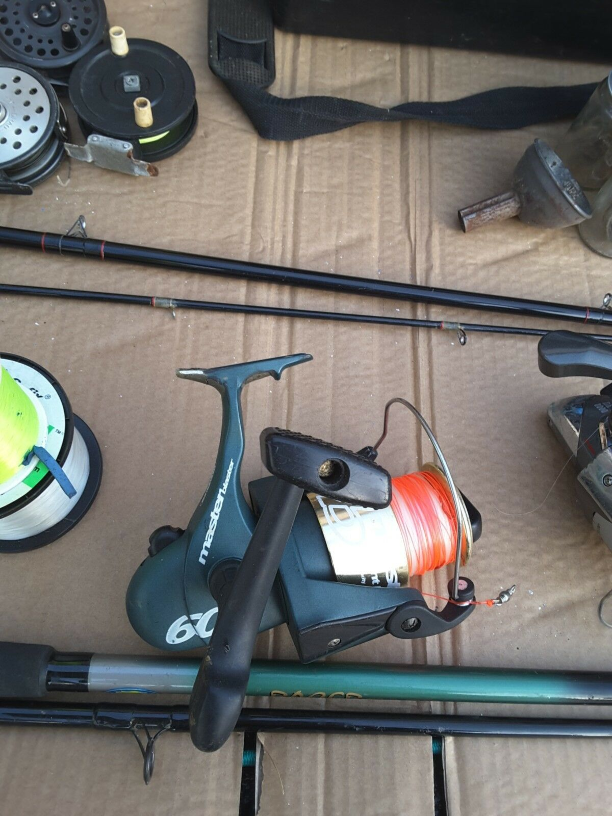 Used Fishing Equipment Bundle, fly, rods, weights,waders.